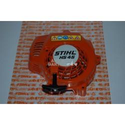 Stihl Anwerfvorrichtung Starter Lüftergehäuse HS 45 + Typenschild
