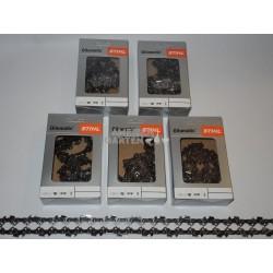 """5x Stihl Saw Chain 35 cm 1,1 mm 3/8""""P SEMI CHISEL PM 50 drive links"""