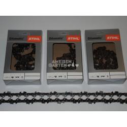 "3x Stihl Sägekette 20 cm 1,1 mm 3/8""P HALBMEISSEL PM 33 TG"