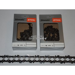 "2x Stihl Saw Chain 25 cm 1,1 mm 3/8""P SEMI CHISEL PM 40 drive links"
