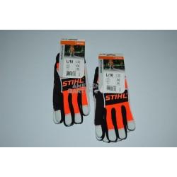 Stihl ADVANCE MS ERGO Handschuhe mit Lederbesatz Gr. L 2x Stück