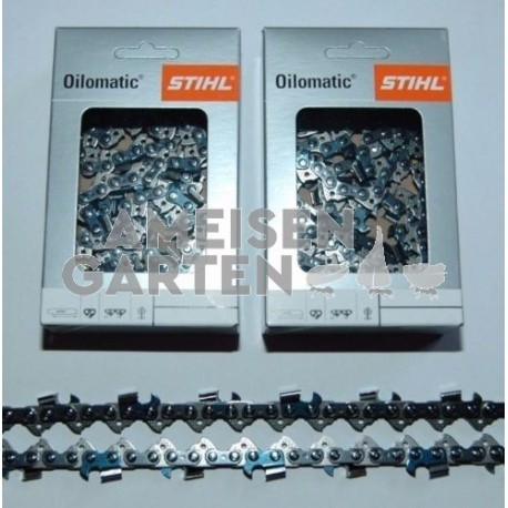 "2x Stihl RS Saw Chain 45 cm 1,5 mm 3/8"" FULL CHISEL 68 Drive Links"