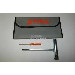 Stihl Schlüssel Kombischlüssel Werkzeugtasche Satz Werkzeug MS171 MS181 MS192