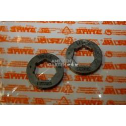"Stihl 2x Ritzel Ringkettenrad 404"" 7Z MS640 MS650 MS660 MS661 MS780 MS880"