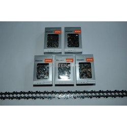"5x Stihl RS Saw Chain 40 cm 1,6 mm 325"" FULL CHISEL 68 Drive Links"