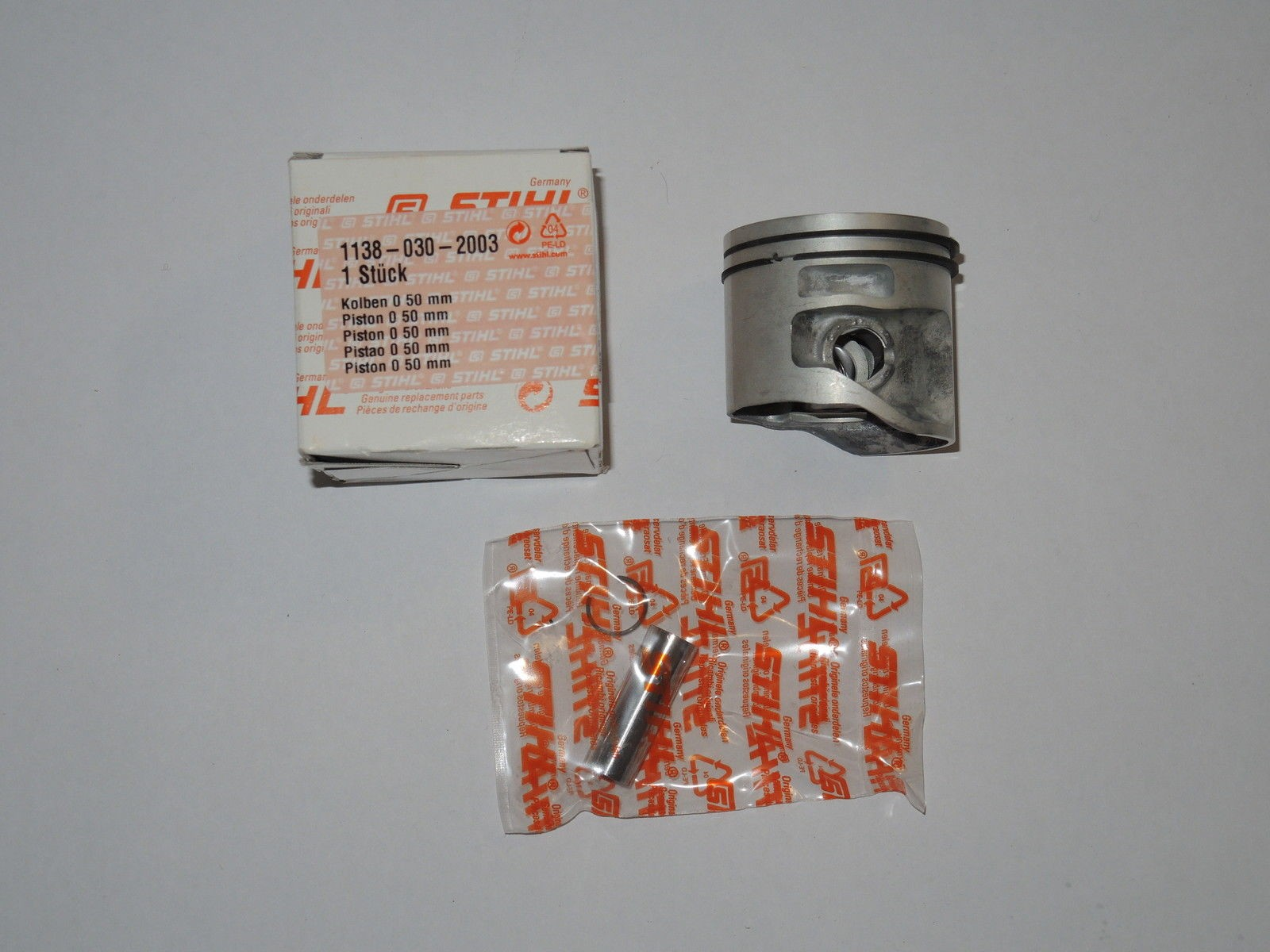 - Kolben Piston Kit for STIHL MS441 MS 441 C #11380302003 50mm