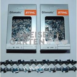 """2x Stihl Saw Chain 45 cm 1,3 mm 325"""" SEMI CHISEL RM 72 drive links"""