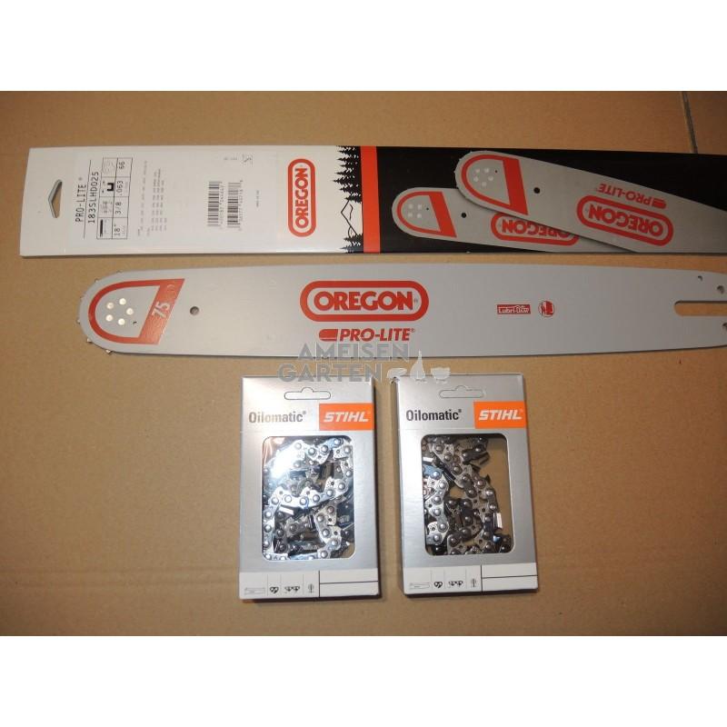 45cm Führungsschiene 3//8 2 Ketten für Stihl 044 MS 440 guide bar chain