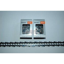 "2x Stihl RM Saw Chain 60 cm 1,6 mm 404"" SEMI CHISEL 75 Drive Links"